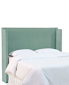 Jada Full Nail Button Wing Back Headboard, Quick Ship