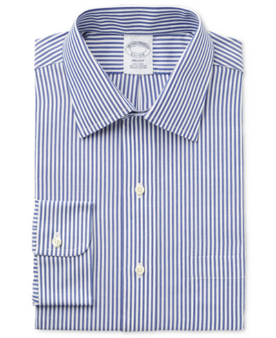 Brooks Brothers Men's Regent Classic-Fit Blue Striped Dress Shirt