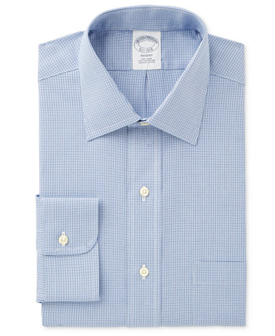 Brooks brothers men 39 s regent classic fit pinpoint blue for Brooks brothers tall shirts