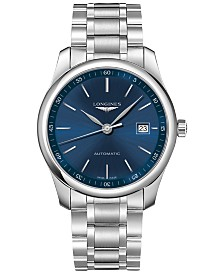 Longines Men's Automatic Master Stainless Steel Bracelet Watch 40mm L27934926