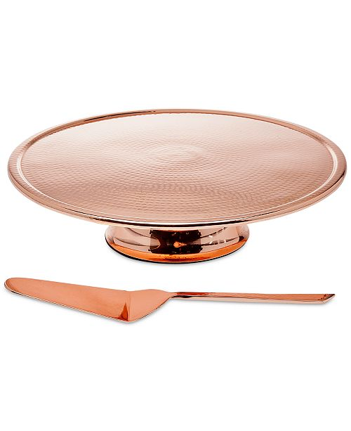 Godinger Copper Cake Stand and Server