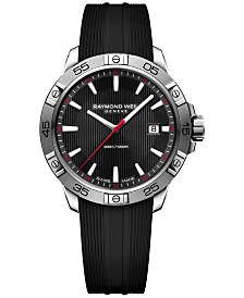 RAYMOND WEIL Men's Swiss Tango Black Rubber Strap Watch 41mm 8160-SR2-20001, Created for Macy's