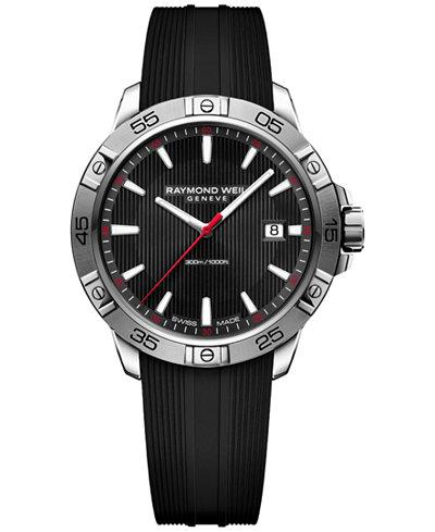 RAYMOND WEIL Men's Swiss Tango Black Rubber Strap Watch 41mm 8160-SR2-20001, Created for Macy's