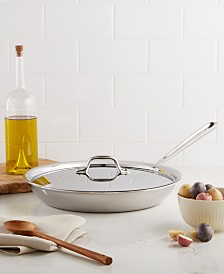 "All-Clad Stainless Steel 12"" Covered Fry Pan"