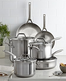Signature Stainless Steel 10 Piece Cookware Set