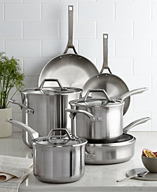 Calphalon Signature Stainless Steel 10 Piece Cookware Set