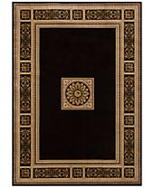 KM Home Sanford Milan Black Area Rug, Created for Macy's