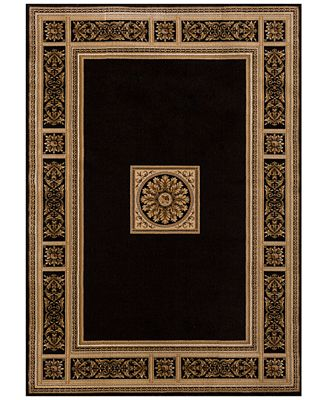 Black Area Rugs km home sanford milan black area rug, created for macy's - rugs