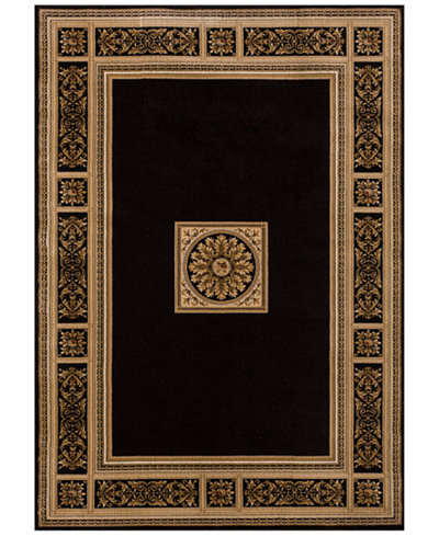 KM Home Sanford Milan Black Area Rug Collection, Created for Macy's