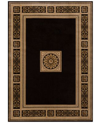 KM Home Sanford Milan Black Area Rug, Created For Macyu0027s