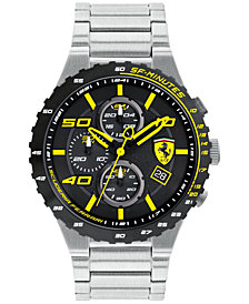 LIMITED EDITION Ferrari Men's Chronograph Speciale Evo Chrono Stainless Steel Bracelet Watch 45mm 0830362