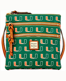 Dooney & Bourke Miami Hurricanes Triple-Zip Crossbody Bag