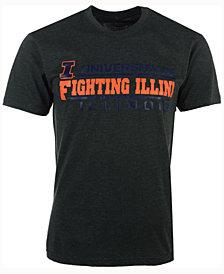 Colosseum Men's Illinois Fighting Illini Verbiage Stack T-Shirt