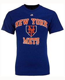Majestic  New York Mets Hit and Run T-Shirt, Big Boys (8-20)