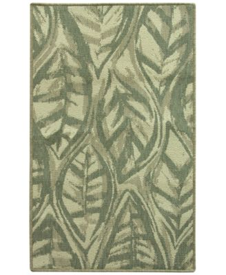 "Leaf Sketch Blue 19.7"" x 32.8"" Accent Rug"