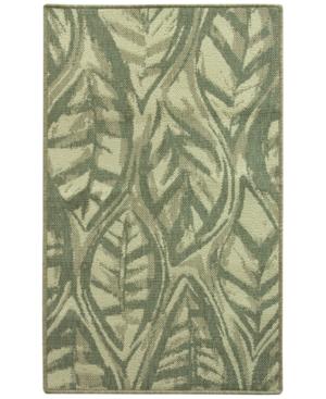 Bacova Leaf Sketch Blue 197 x 328 Accent Rug Bedding