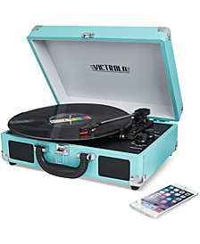 Solid Suitcase Bluetooth Record Player