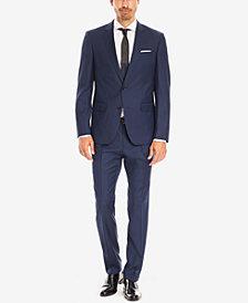 BOSS Men's Slim-Fit Virgin Wool Textured Suit