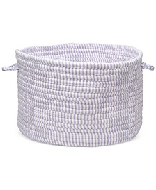 """12"""" x 8"""" Solid Ticking Fabric Basket"""