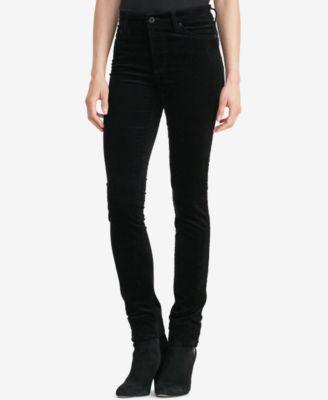 Womens Black Corduroy Pants GIdhe10j