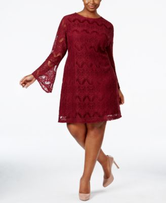 American Rag Trendy Plus Size Lace Shift Dress, Only at Macy's