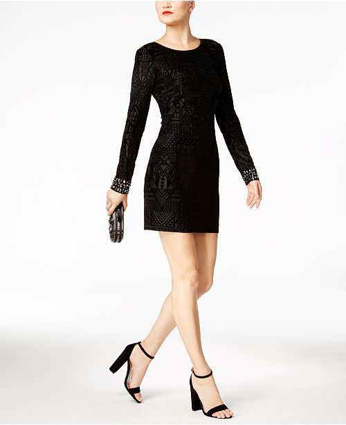9eb5fb7c410 GUESS Velvet Sheath Dress