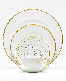 "Vera Wang Wedgwood ""Gilded Leaf"" 5-Piece Place Setting"