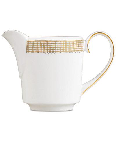 Vera Wang Wedgwood Gilded Weave Gold Creamer, Imperial