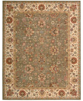 Nourison Round Area Rug, Created For Macyu0027s, Persian Legacy PL03 Olive 5u0027 10