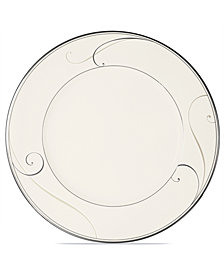 Noritake Dinnerware, Platinum Wave Dinner Plate
