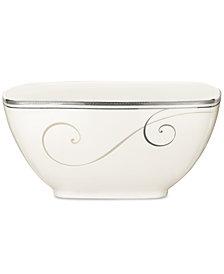 Noritake Dinnerware, Platinum Wave Medium Square Bowl