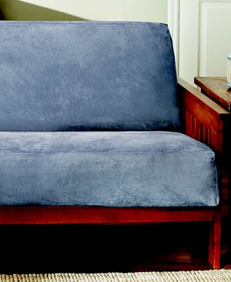 Sure Fit Soft Faux Suede Full Queen Futon Slipcover