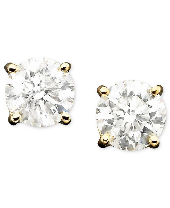 Macy's - Diamond Stud Earrings in 14k Gold (1/3 ct. t.w.-1 ct. t.w.)