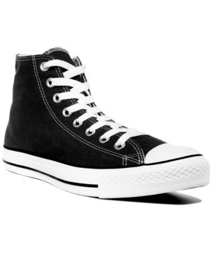 Men'S Chuck Taylor Hi Top Casual Sneakers From Finish Line in Black