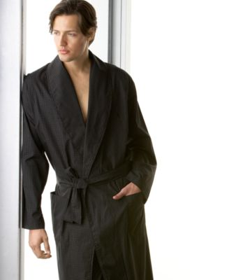 polo ralph lauren menu0027s sleepwear soho light weight modern plaid woven robe u0026 pj pants - Mens Bathrobes