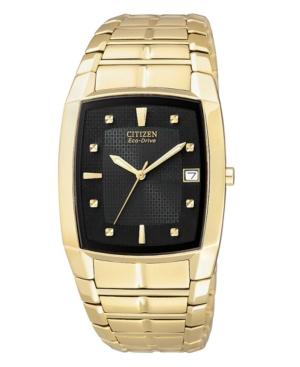 Citizen Men's Eco-Drive Gold-Tone Stainless Steel Bracelet Watch 31mm BM6552-52E