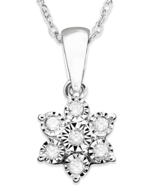 Diamond Flower Pendant...