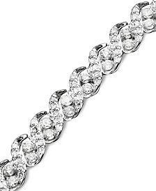 Diamond Bracelet In 14k White Gold 3 Ct T W