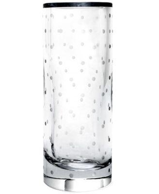 """10"""" Larabee Dot Cylinder Vase"""