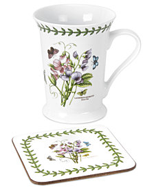 Portmeirion Dinnerware, Botanic Garden Mug and Coaster Set, Created for Macy's