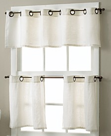 Essex Grommet Linen Cafe Window Treatment Collection