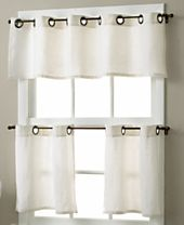 Elrene Essex Grommet Linen Cafe Window Treatment Collection