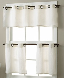 Elrene Essex Grommet Linen Cafe Window Treatment Collection