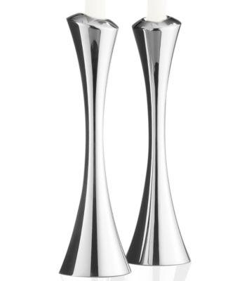 Nambe Set of 2 Aquila Candlesticks
