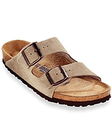 Men's Arizona Soft Footbed Two Band Suede Sandals