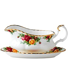 "Old Country Roses 6"" Gravy Boat Stand"