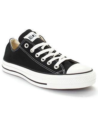 Converse Women's Chuck Taylor All Star Ox Casual Sneakers from Finish Line #converse #black #sneakers