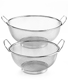 Martha Stewart Collection Set of 2 Mesh Colanders, Created for Macy's
