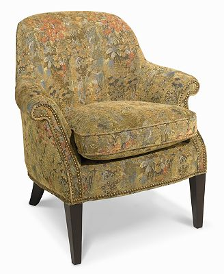 marche living room chair, multi floral - furniture - macy's