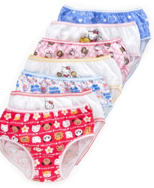 Hello Kitty 7Pack Cotton Underwear Little Girls  Big Girls